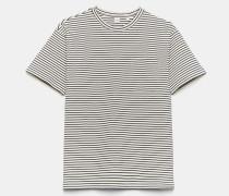 T-Shirt aus gestreiftem Baumwolljersey