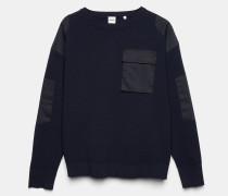 Pullover aus Baumwollkrepp