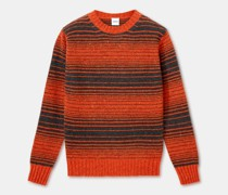 Rundhalspullover aus donegal-tweed-wolle