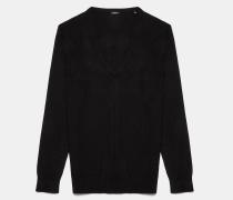 Übergroßer Pullover aus Seide / Kaschmir