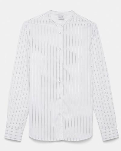 Klassisches Hemd aus gestreifter Baumwollpopeline