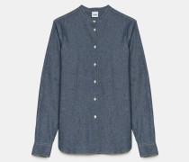 Klassisches Hemd aus japanischer Chambray-Baumwolle