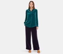 Klassisches Hemd aus leichtem Seiden- / Viskose-Samt