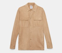 Hemdjacke aus lammveloursleder