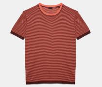 Pullover mit feinem Streifendruck aus ultraleichter Baumwolle