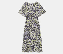Kleid aus bedruckter Chinakrepp-Seide