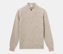 Pullover mit polokragen aus donegal-tweed-wolle