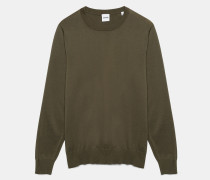 Pullover mit Rundhalsausschnitt aus Baumwolle