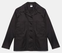 Jacke / Hemd aus Baumwollgabardine