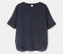 T-shirt aus crÊpe de chine-seide