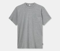T-shirt aus jersey in melange-optik mit rundhalsausschnitt