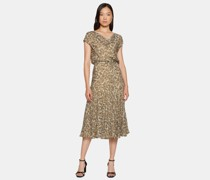 Jacquard-Kleid aus Viskose