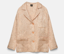 Jacke aus Blasenkrepp-Lamé-Seide