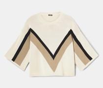 Strick-t-shirt aus reiner baumwolle
