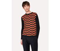 Zig-Zag 'Bright Stripe' Wool And Silk-Blend Sweater