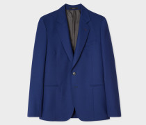 Tailored-Fit Blue Wool Blazer
