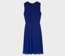 Indigo Pleated Dress