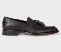 Black Leather 'Alexis' Loafers