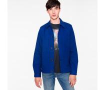 Indigo Cotton-Twill Chore Jacket