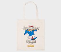 'Super Soft Cross-Hatch' Print Canvas Tote Bag