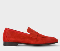 Red Suede 'Glynn' Penny Loafers