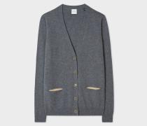 Grey Marl Cashmere Cardigan