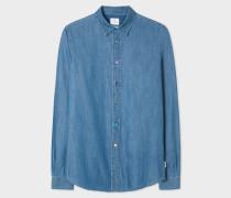 Slim-Fit Indigo Denim Shirt