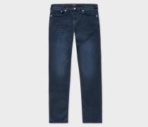 Slim-Standard 14.5oz 'Reflex Super Stretch' Indigo Over-Dyed Denim Jeans