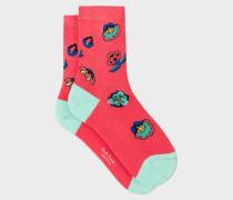 Pink 'Kyoto Floral' Socks