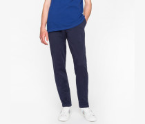 Tapered-Fit Navy Garment-Dyed Pima-Cotton Stretch Chinos