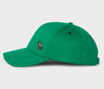 Green Cotton Zebra Logo Baseball Cap