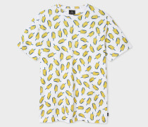 White 'Ice Lolly' Print Cotton T-Shirt