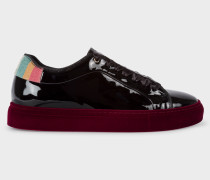 Patent Black Leather 'Basso' Trainers