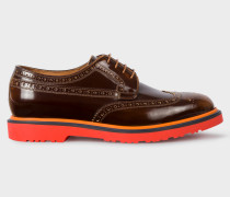Tan High-Shine Leather 'Crispen' Brogues