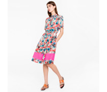 Red 'Ocean Floral' Print Shirt-Dress