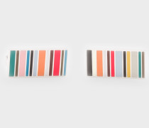 Mini-Stripe Cufflinks