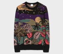 'Midnight' Jacquard Cotton-Blend Sweater