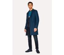 Indigo Wool-Cashmere Overcoat