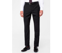 A Suit To Travel In - Slim-Fit Charcoal Grey Wool Trousers