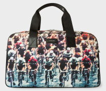 Canvas 'Cycling' Print Holdall