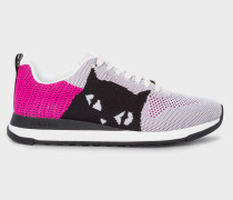 Mauve And Pink 'Cat' 'Rappid' Knitted Trainers