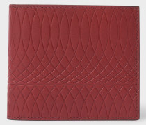 No.9 - Brick Red Leather Billfold Wallet With Multi-Coloured Interior