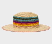 'Artist Stripe' Crochet Straw Hat