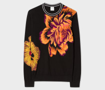Black 'Ocean' Intarsia Sweater