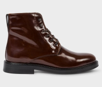 Brown Patent Leather 'Chesil' Boots