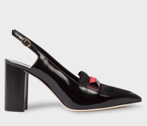 Black Leather And Calf Hair 'Ava' Shoes