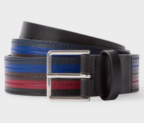 Black Colour Band Leather Belt