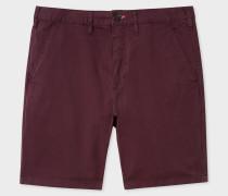 Damson Garment-Dyed Stretch Pima-Cotton Shorts