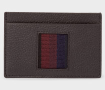 Black 'City Webbing' Leather Credit Card Holder