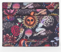 'Psychedelic Sun' Leather Slip Card Holder